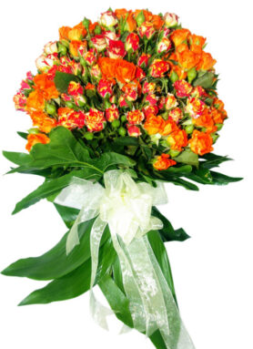 Very cheerful bouquet with miniature roses