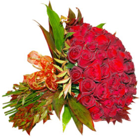 Bouquet with 100 red roses
